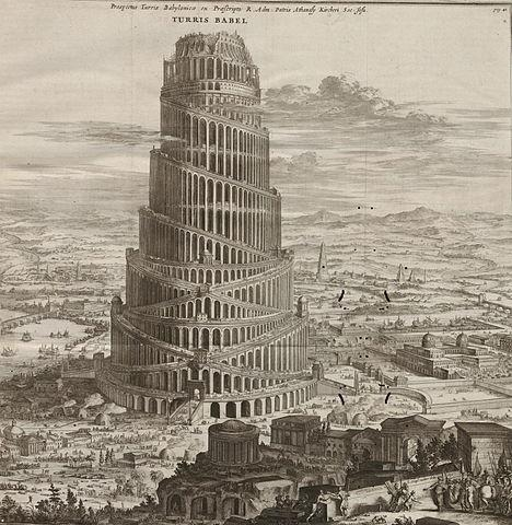 © https://en.wikipedia.org/wiki/Tower_of_Babel#/media/File:Turris_Babel_by_Athanasius_Kircher.jpg